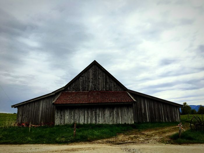 Sky Architecture Built Structure Building Exterior Cloud - Sky Day House Barn Outdoors No People The Great Outdoors - 2017 EyeEm Awards Grass Landscape Nature