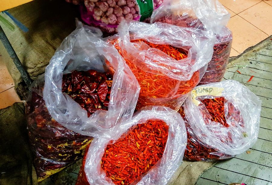 Chili Peppers Close-up Day Food Food And Drink Freshness Healthy Eating High Angle View Indoors  No People Phuket Old Town
