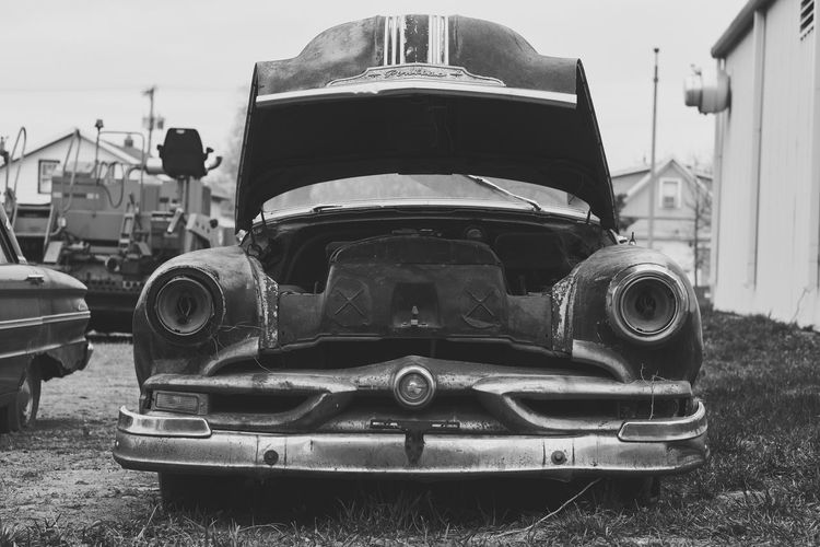 left behind, typically human Pontiac Land Vehicle Transportation Car No People Mode Of Transport Old-fashioned Auto Fujifilm_xseries Fujifilm FUJIFILM X-T2 Explore NoDak Chieftain Abandoned Rurex Classic Car All Day