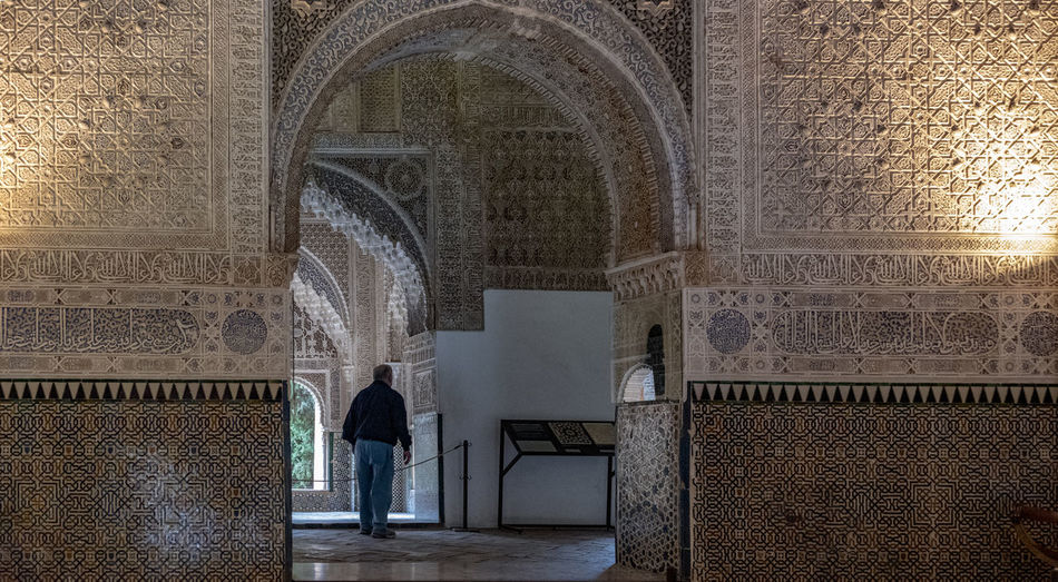interior of Alhambra, Granada, Spain Alhambra Alhambra De Granada  Interior Spain Architecture SPAIN Arabic Style Arch Architecture Built Structure History The Past Building Building Exterior Travel Destinations Day Wall - Building Feature Pattern Flooring Religion Old Place Of Worship Tourism No People Architectural Column Outdoors