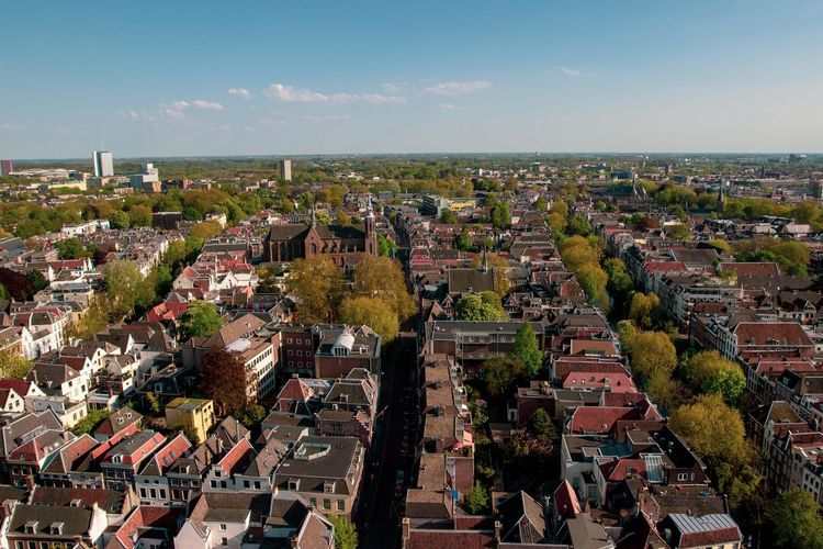 Built Structure Residential District Cityscape Building Nature High Angle View Crowd Day Horizon Building Exterior Architecture TOWNSCAPE Outdoors Sky City Plant Tree Roof Crowded Town Holland Netherlands Travel