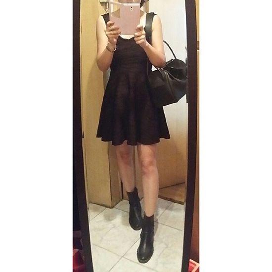 Blackteaholic Ootd Outfit MeToday lookofthedayfashion streetstyle stylegirlstylish whatiwearallblackonepiece am rebeccaminkoffhermesSunday summer littleblackdress
