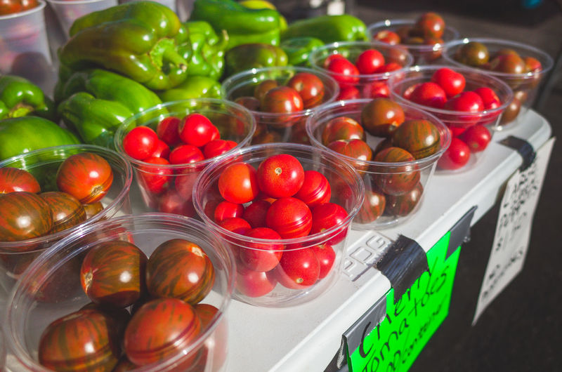 Cherry Tomato Choice Container Food Food And Drink Freshness Fruit Healthy Eating Household Equipment Indoors  Kitchen Utensil Large Group Of Objects No People Pepper Red Still Life Tomato Variation Vegetable Wellbeing