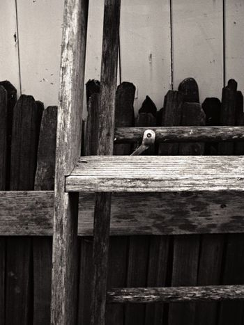 Wood - Material No People Day Duotone Wood Paneling Broken Ladder Farm Material Black And White Fencepost Built Structure Full Frame Outdoors Nature Close-up