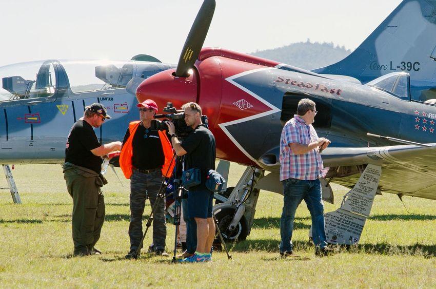 Warbirds Military Airplane Airshow Vintage Aircraft Pilot Propeller Airplane Warbird People Nikon D5100