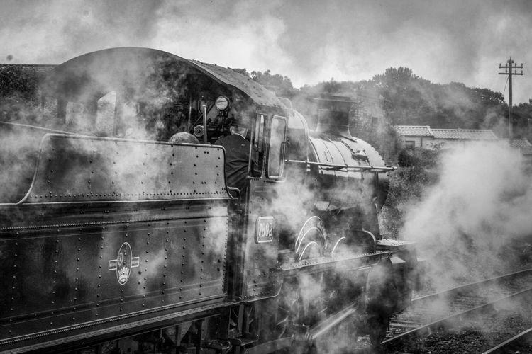 Steam train north somerset railway station