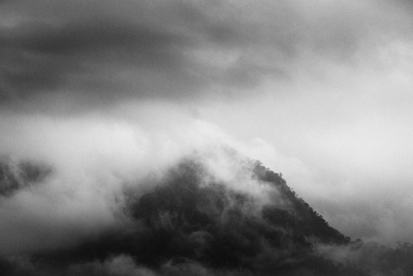 Hidden Peak Fine Art Photography Fineart_photobw Blackandwhite Photography Fineart Landscape Mountain Mountain Range Blackandwhite Cloudy Foggy Indonesia_photography INDONESIA Iamindonesia Bandung 2016