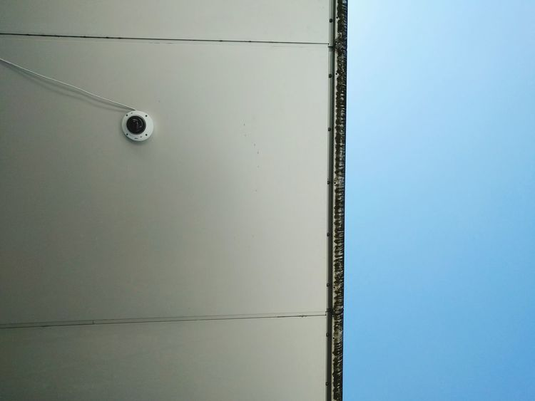 Big Brother is Watching You Security Cam Blue Sky No Clouds Sky Minimalism Minimalobsession EyeEm Best Shots - Minimalist The Minimalist