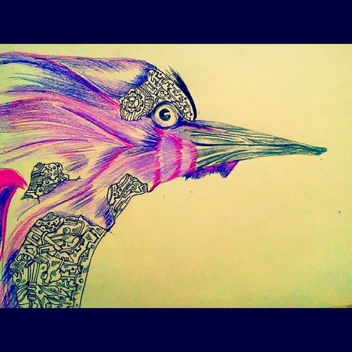 Nature Bird Losingbeauty Machines Takedown Doodle Sketch .