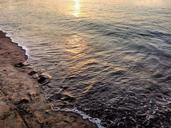 Water Sea Nature Beach Sunset Beauty In Nature Outdoors Sand Rippled Tranquility Wave No People Tranquil Scene Scenics