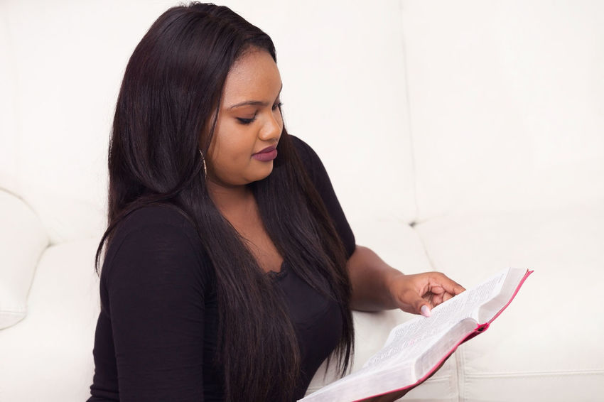 Young Woman Studying the Word of God in the Morning African American Bible Study Born Again Christian Devotional Faith KING JAMES Lady Solitary Spirituality Student Woman Dedication Devoted Discipleship Girl Gospel Kjbsfotografia@gmail.com.br Kjv Ready-to-eat Religion Salvation  Study Theology Young Adult
