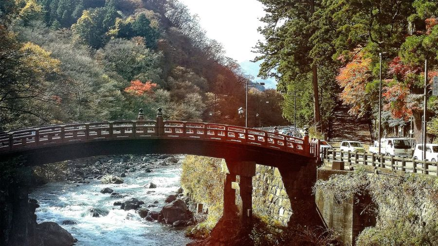 The Shinkyo bridge stands at the entrance to nikko's shrines and temples and technically belongs to futarasan shrine. The existing bridge was built in 1636 (off limits to the public until 1973) and is ranked as one of japan's three finest bridges. Entrance fee payable to walk across the bridge and back. Bridge Shinkyo Bridge Sacred Bridge River Nikko 日光市 Nikko, a Small City in Tochigi Prefecture has a population of 84,197 (may 2015) and is a Popular Destination for local and international Tourists. Its weather is fairly similar to that in hokkaido ( japan's northernmost island, and near russia) UNESCO World Heritage Site Coachtravel Daytrip Japan Travelphotography Nature Nature_collection Naturelovers Naturephotography Autumn Colours Of Autumn Fall 秋 Tokyoautumn2015 trivia of the day : nikko is twice the size of my country !