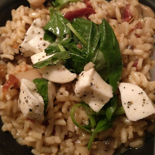 Food And Drink Indoors  Food Freshness No People Ready-to-eat Healthy Eating Directly Above Close-up Serving Size Day Risotto Pine Seeds