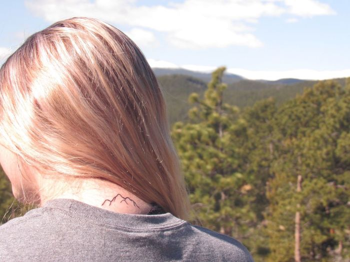 Rear View One Person Real People Headshot Women Nature Outdoors Day Mountain Blond Hair Sky Close-up People Adult Adults Only