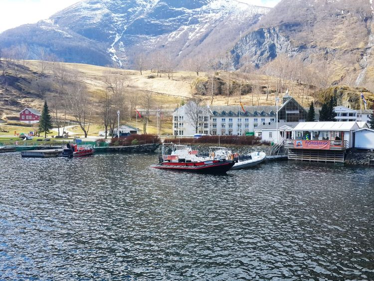 April2016 Day4 Norway Trip Flåm In The Country Mountains Fjords Fjordsofnorway Boats