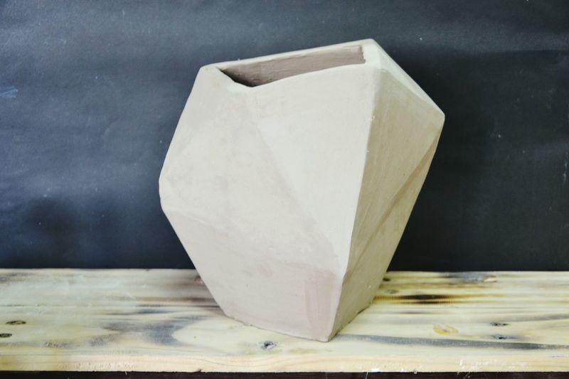 Art Object Pottery Bisque Plain