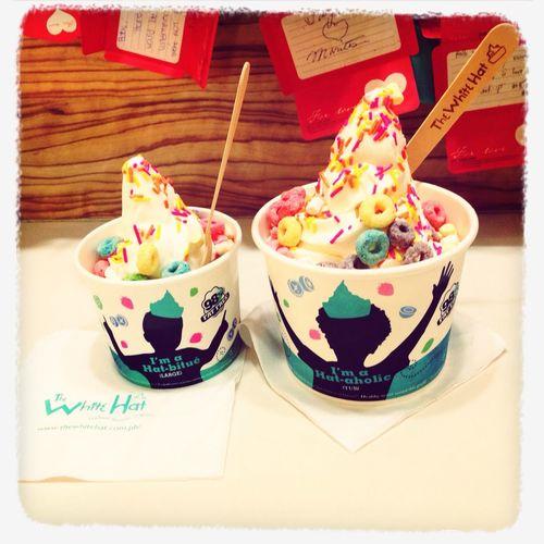 Enjoying my favorite Yoghurt !!! ?? The White Hat