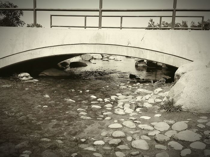 let it go like Water Under The Bridge, Taking Photos Enjoying Life Manmadestructures Bridge - Man Made Structure Water_collection Water Creekside Ceek Waterscape Water Reflections Taking Photos DaveyBlackheart Rocky Rocky Creek Bridge Rocky Creek Hello World Sepia Sepia_collection