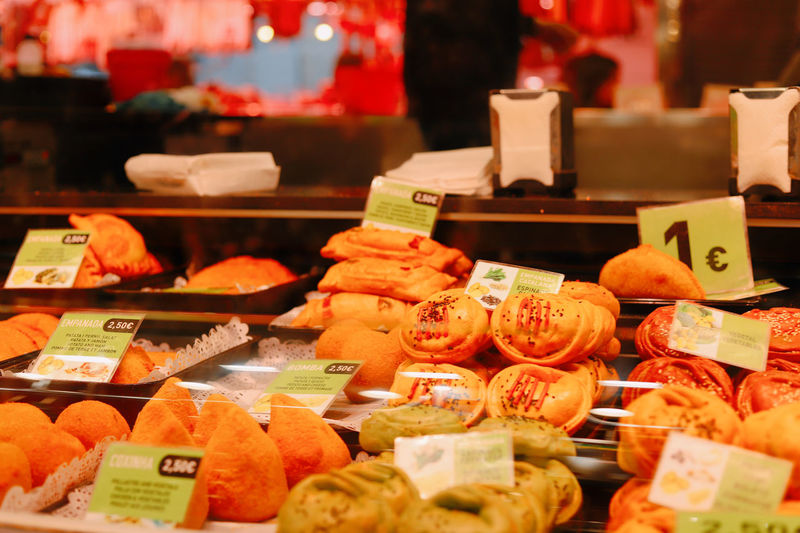 Various vegetables for sale in store