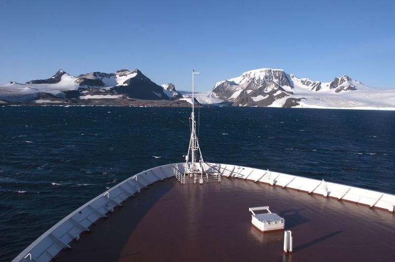 Cruise ship taking us to antarctica