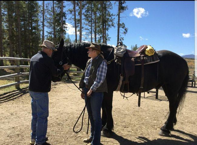 instructions on handling as Luke Tree Togetherness Full Length Men Agriculture Standing Sky Ranch Horseback Riding