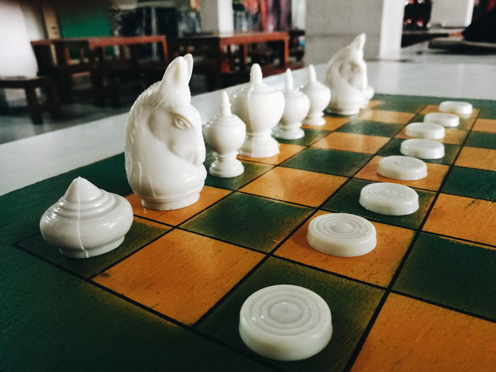 shess No People Indoors  Colors Chess Piece Chess Chess Board Checked Pattern Close-up