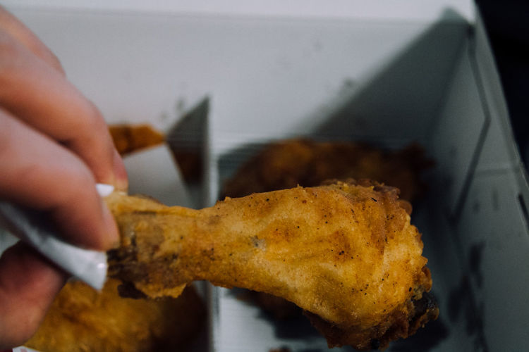 Box Brown Close-up Eat Food Food And Drink Food And Drink Freshness Fried Fried Chicken Indoors  Lifestyles Mealtime Meat Paper Box Ready-to-eat Selective Focus Snack Snacks Still Life Table Yummy Show Us Your Takeaway!