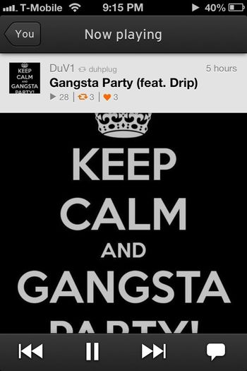 Cant help but hear this 1 http://soundcloud.com/duv1/gangsta-party-feat-drip