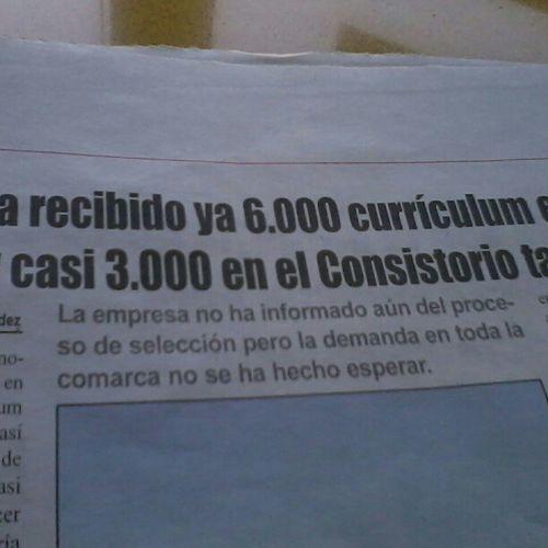 9000 CV para 300 puestos de trabajo