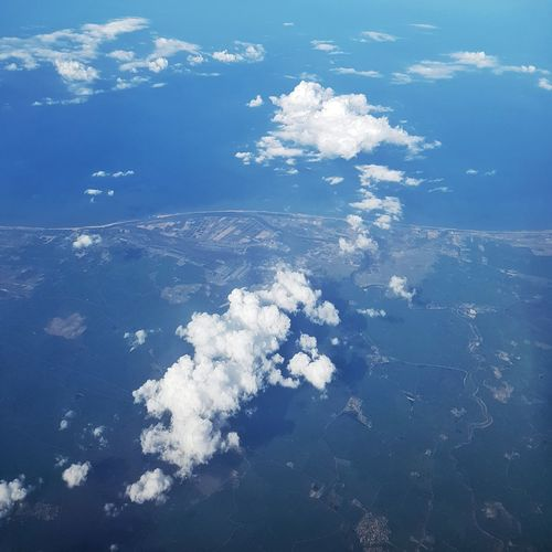 Aerial view of calm sea