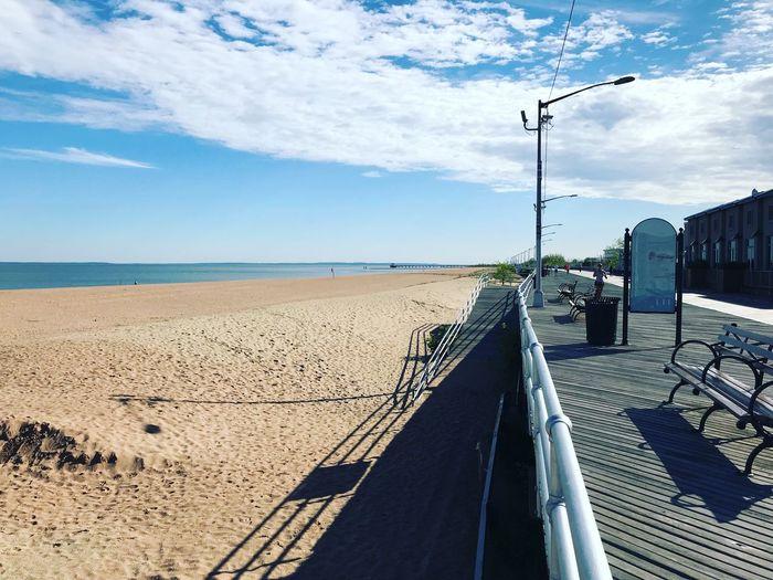 Promenade Staten Island Sky Water Sea Land Beach Cloud - Sky Nature Day Sand Sunlight