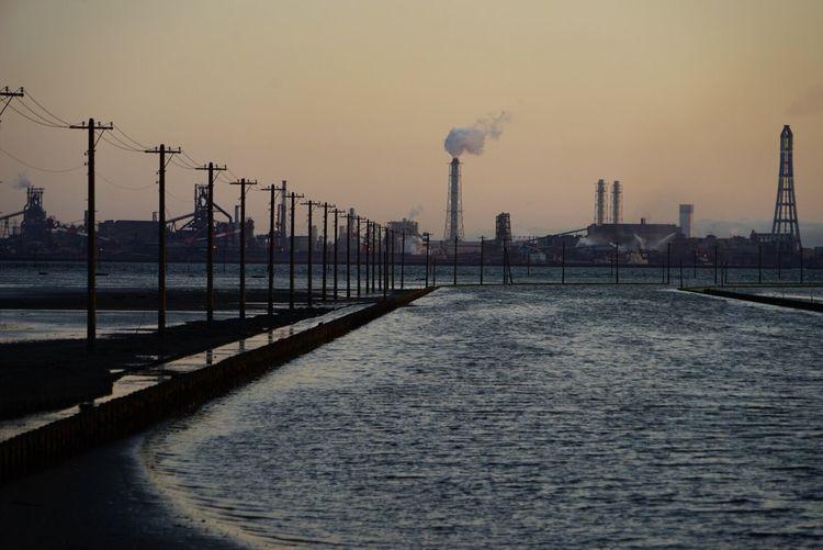 Japan Japan Photography Sea Egawa Kaigan Pole Factory