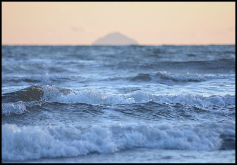 Waves across to Ailsa Craig Relaxing EyeEm EyeEm Selects EyeEm Gallery Eye4photography  EyeEm Best Shots Enjoying Life The Week on EyeEm Sea Wave Nature Beauty In Nature Water Horizon Over Water Sunset Waterfront Tranquility Sky Clear Sky Day Scenery Beach No People Outdoors Scenics