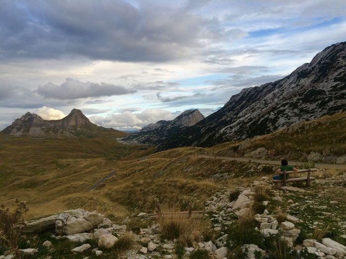 Montenegro Wild Beauty Montenegro Durmitor Mountain View National Park Landscape Premium Collection Landscape_Collection Valley One Man Only One Person Clouds And Sky Beauty In Nature The Great Outdoors - 2017 EyeEm Awards EyeEm Premium Collection Done That. Lost In The Landscape
