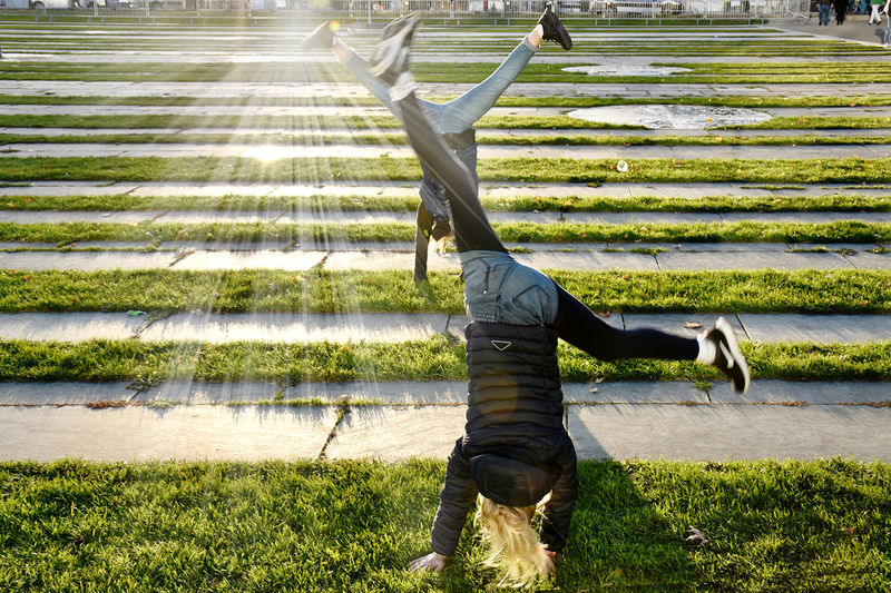 Man on field in park
