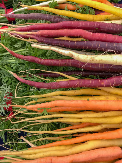 Farmers Market Fresh Produce Nature Abundance Backgrounds Carrot Choice Close-up Food Food And Drink For Sale Freshness Full Frame Healthy Eating Large Group Of Objects Market Multi Colored No People Organic Purple Retail  Root Vegetable Still Life Vegetable Wellbeing