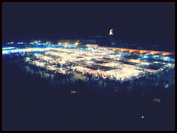 Big square Souk Market Morocco
