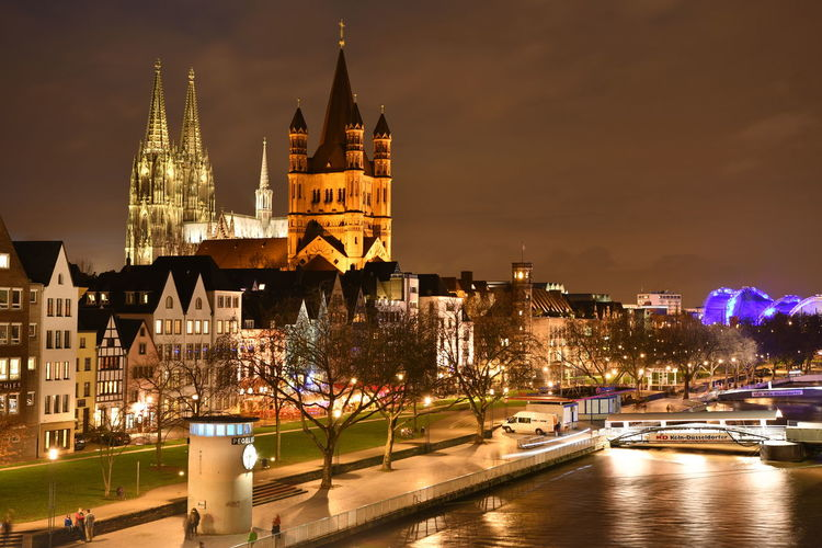 Cathedral Cologne Cologne , Köln,  Deutschland Köln Kölner Dom Night Photography Nightphotography Travel Photography Traveling Architecture Building Exterior Built Structure Bulb Bulbphotography Bulbs City Cologne Cathedral Germany Illuminated Langzeitaufnahme Langzeitbelichtung Night No People Travel Destinations