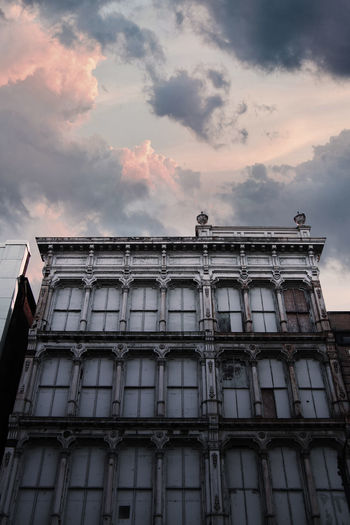 The long building. Building Building Exterior Dramatic Sky Clouds And Sky Outdoor Photography Cloud - Sky Portrait Photography Backgrounds Architecture Building Exterior Sky Built Structure Abandoned Run-down Incomplete Damaged The Architect - 2018 EyeEm Awards