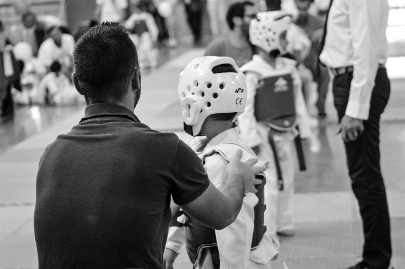 Sports Sports Photography Coaching Blackandwhite Kids Taekwondo Encouraging