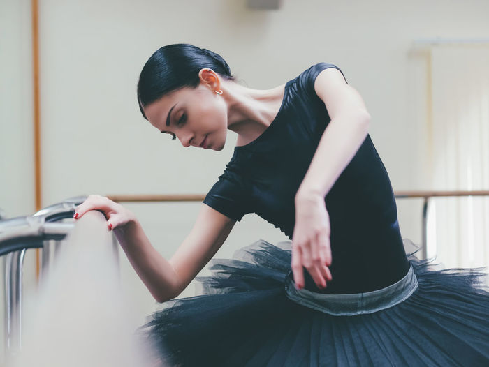 Dancer Dancing In Ballet Studio