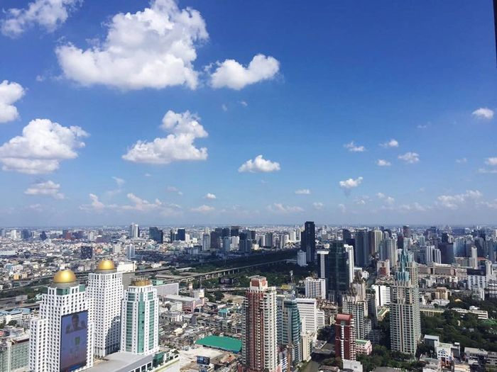 Cityscape Skyscraper Architecture City Building Exterior Modern High Angle View Aerial View Travel Destinations Day Urban Skyline Sky Built Structure Outdoors No People Bangkok Sky