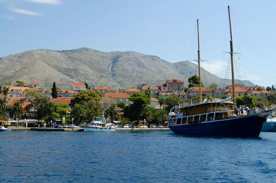 Cavtat Town Cavtat  Croatia Boat Nautical Vessel Ship Town Village Waterfront