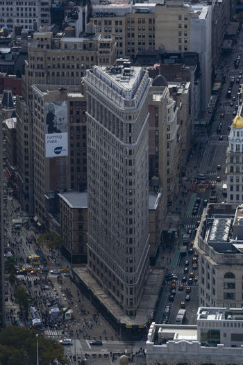 cityscape from above Buildings Flat Iron Building NYC New York City Cityscape Urban Exploration Aerial View High Angle View City Building Exterior Street Car Building Motor Vehicle Mode Of Transportation City Street Land Vehicle City Life Skyscraper Outdoors Streets Of New York Exceptional Photographs Full Length EyeEm Best Shots The Architect - 2019 EyeEm Awards The Traveler - 2019 EyeEm Awards