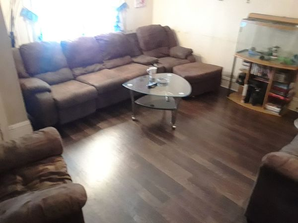 Living Room Home Interior Sofa Armchair Domestic Life No People Domestic Room Indoors  New Floors Pergo .(:  Brown Love It My House