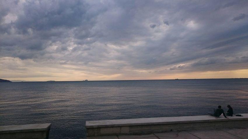 View Hello World Islandlife - Islandview Enjoying The Sunset Sea Güneşışığı Manzara