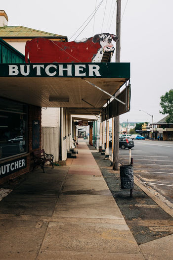Butcher sign in