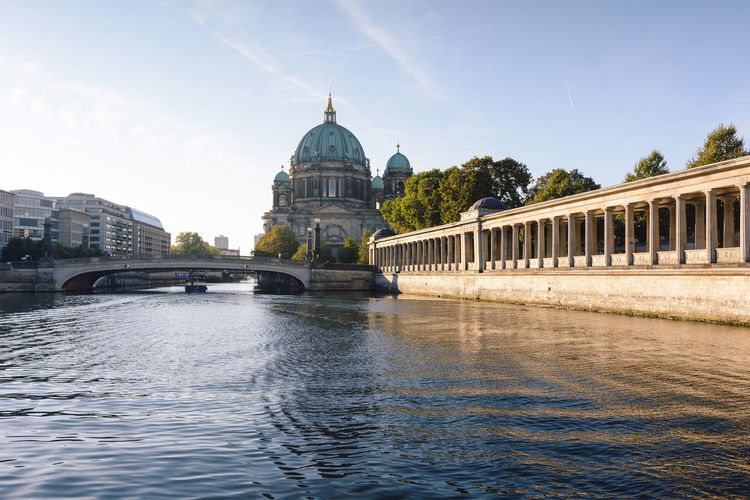 berlin cathedral at sunrise Architecture Architecture Berlin Berlin Cathedral Berliner Dom Building Exterior Built Structure City Cityscape Daytime Dome Germany Government History International Landmark New Day Outdoors Politics And Government Sightseeing Sky Spree River Berlin Sunrise Travel Travel Destinations Water