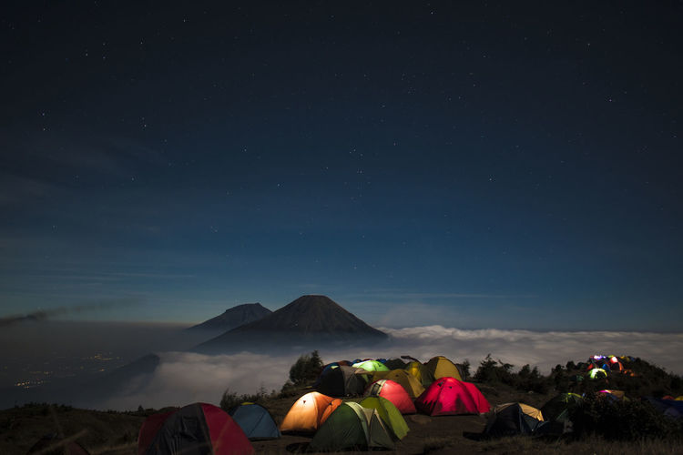 Night on the mountain prau Camping Camping Life Praumountain Night Star Stars Star - Space Prau Mountain INDONESIA Astronomy City Mountain Galaxy Milky Way Tent Tree Volcanic Landscape Star - Space Sky Volcano