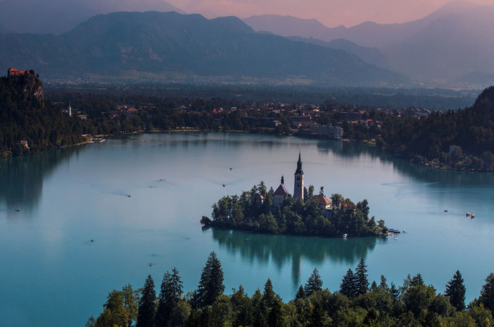 Lake Bled island view Beauty In Nature Lake Bled, Slovenia Mountain Slovenia Travel Destinations Water